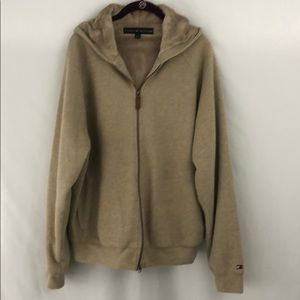 Like new Tommy Hilfiger tan faux lined hoodie